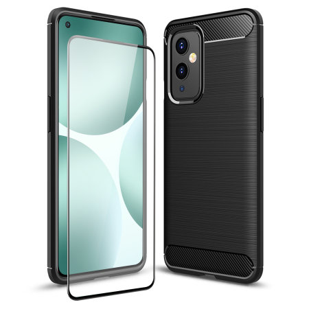 Olixar Sentinel OnePlus 9 Case & Glass Screen Protector