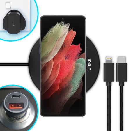 Olixar Samsung S21 Ultra Complete Fast-Charging Starter Pack Bundle