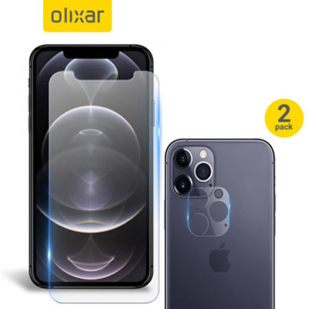 Olixar iPhone 12 Pro Screen Protector & 2 Pack Camera Protectors
