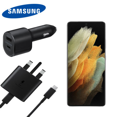 Official Samsung S21 Ultra 45W USB-C PD Ultimate Fast Charging Bundle