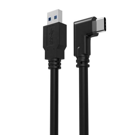 USB-C Right Angled Cable - 3m - Black