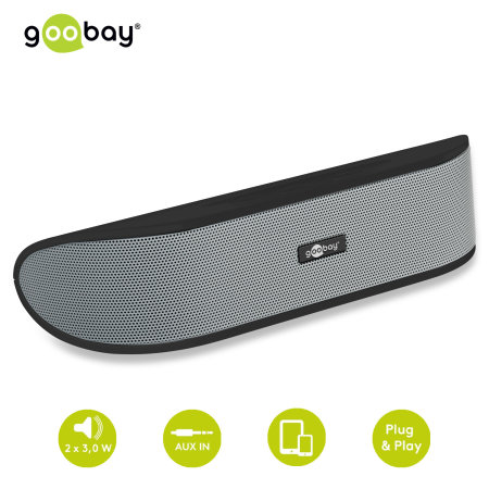 Goobay Plug 'n Play Mini Soundbar - Black