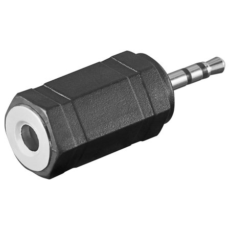 Goobay 2.5mm Male to 3.5mm Female Audio Adapter- Black