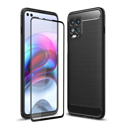 Olixar Sentinel Motorola Edge S Case & Glass Screen Protector