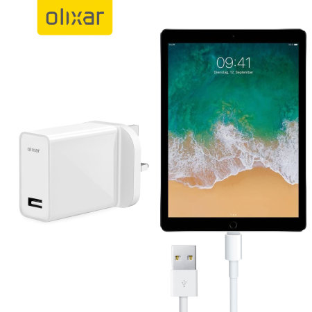 Olixar High Power 2.4A USB A to Lightning Charger For iPads - White