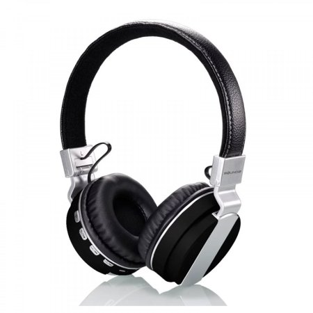 Soundz Wireless On-Ear Cushioned Headphone - Black