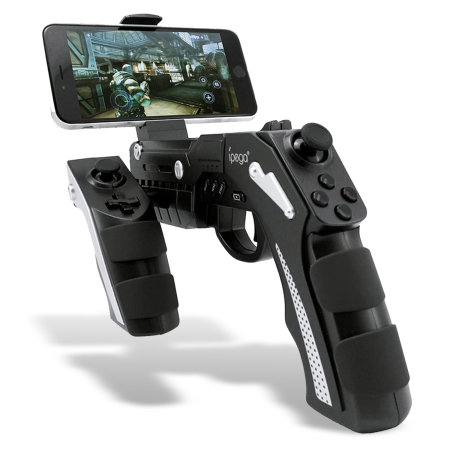 IPega PG-9057 Wireless Gun Remote Controller W/ Smartphone Holder