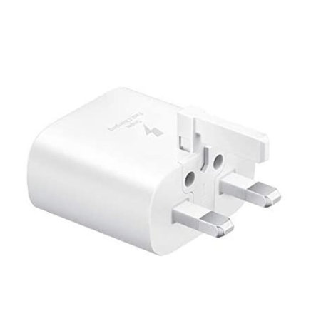 Official Samsung 25W PD USB-C UK Wall Charger - White