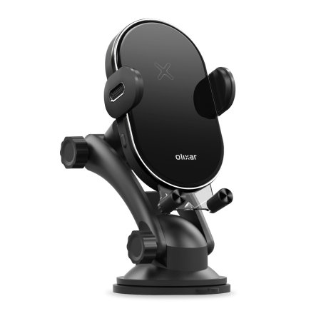 Olixar 15W Wireless Charging Windscreen & Dash Car Holder - Black