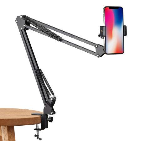 Olixar Lazy Arm Universal Camera & Smartphone 70cm Desk Clamp - Black