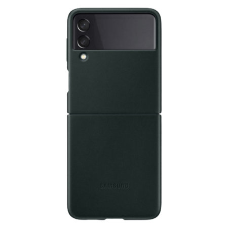 Official Samsung Galaxy Z Flip 3 Genuine Leather Cover Case - Green