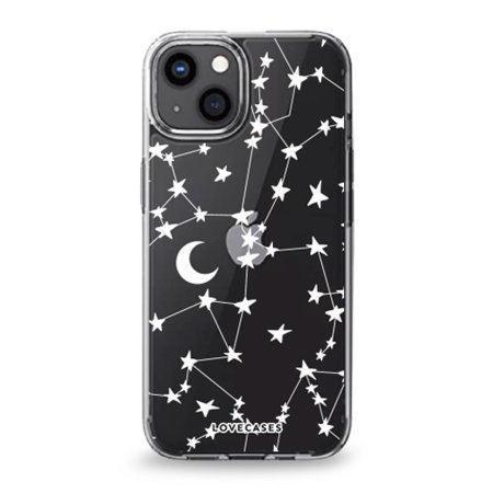 LoveCases iPhone 13 Gel Case - White Stars and Moons