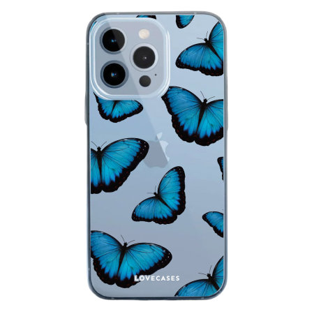 LoveCases iPhone 13 Pro Max Gel Case - Blue Butterfly