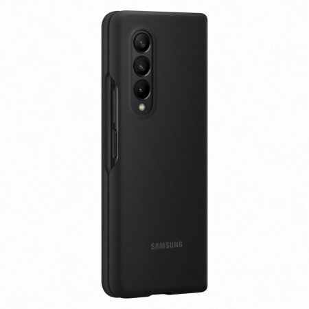 Official Samsung Galaxy Z Fold 3 Genuine Leather Cover Case - Black