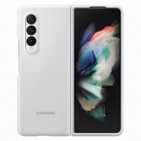 Official Samsung Galaxy Z Fold 3 Soft Silicone Case - White