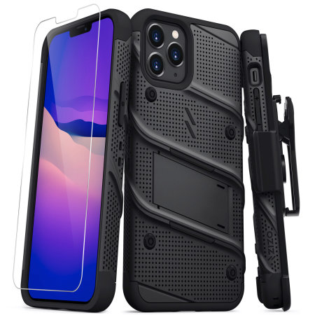 Zizo Bolt iPhone 13 Pro Protective Case & Screen Protector - Black