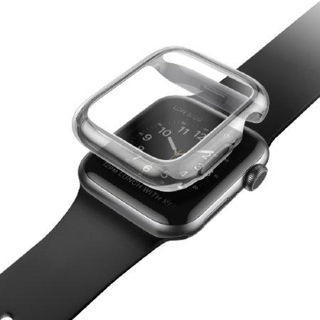 UNIQ Garde Apple Watch Series 7 41mm Silicone Case - Clear