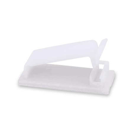 Olixar Self Adhesive Cable Management Clips - 20 Pack - White