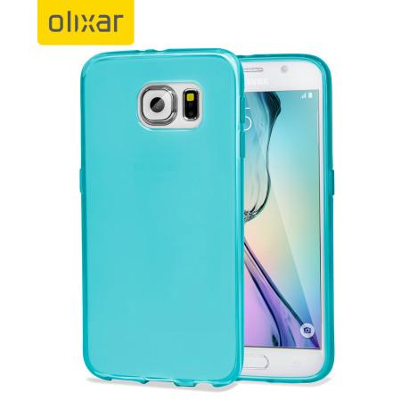 flexishield samsung galaxy s6 gel case light blue 8 with the standard