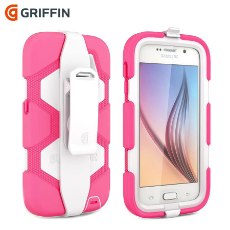 Griffin Survivor Samsung Galaxy S6 All-Terrain Case - Pink / White