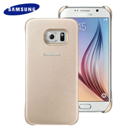 511c6c1856 ... Black Official Samsung Galaxy S6 Protective Cover Case - Gold