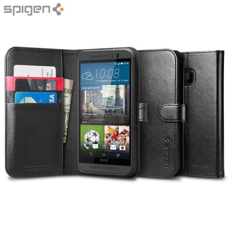 Spigen HTC One M9 Wallet S Case - Black
