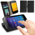 Leather Style Wallet / Stand Case for Google Nexus 4 - Black 1