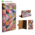 Create And Case Sony Xperia Z1 Leather Book Case - Grandma Quilt 1