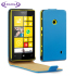 Adarga Leather Style Nokia Lumia 525 / 520 Flip Case - Neon Blue 1