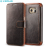 Verus Dandy Leather-Style Samsung Galaxy S6 Edge Wallet Case - Brown 1