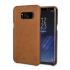 Vaja Grip Samsung Galaxy S8 Plus Premium Leather Case - Brown 1