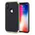 Olixar X-Duo iPhone X Hülle in Carbon Fibre Gold 1