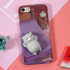 3D Squeeze iPhone 7 Squishy Cat Case - Purple 1