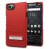 Seidio SURFACE BlackBerry KEYone Case & Metal Kickstand - Red / Grey 1