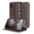 Olixar X-Tome Leather-Style iPhone X Book Case - Brown 1