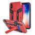 Olixar XTrex iPhone XS / X Rugged Card Kickstand Case - Red 1