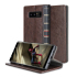 Olixar X-Tome Leather-Style Samsung Galaxy Note 8 Book Case - Brown 1