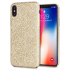 LoveCases Check Yo Self iPhone X Case - Shimmering Gold 1