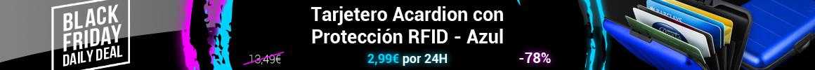 Tarjetero Acardion con Protección RFID