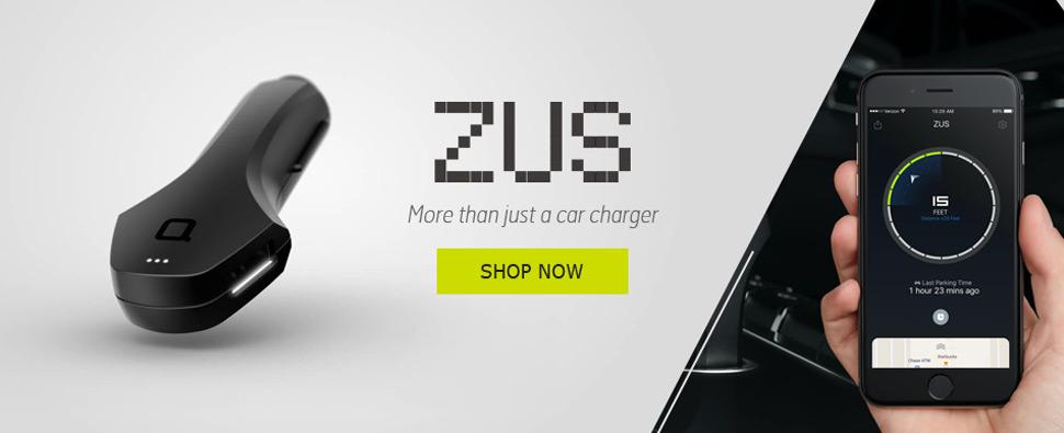 Nonda Zus 2 Port 4.8A Smart Car Charger & Car Locator
