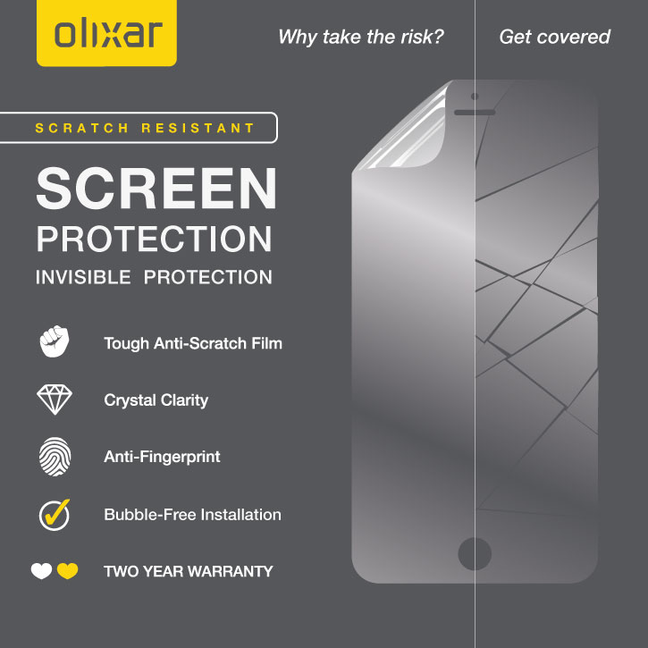 Olixar HTC Bolt Screen Protector 2-in-1 Pack