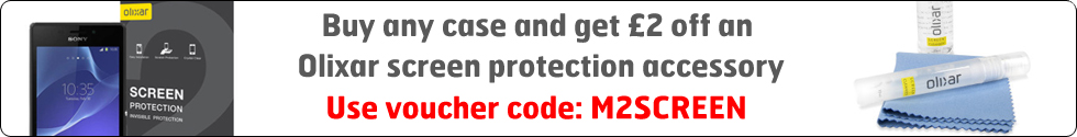Buy any case and get £2 off an Olixar screen protection accessory