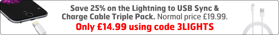 Lightning to USB Sync & Charge Cables