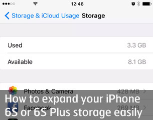 Expand iPhone 6S storage