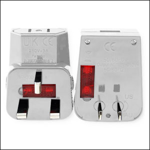 WorldWise Power Travel Charger with USB Port - White