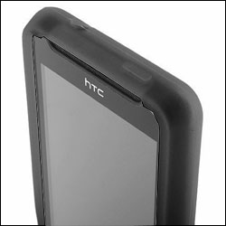 Silicone Case for HTC HD Mini - Black