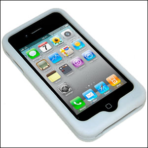 Silicone Case For iPhone 4 - White