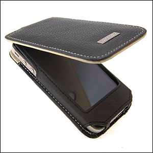 Funda cuero Alu iPhone 4S / iPhone 4 - Black