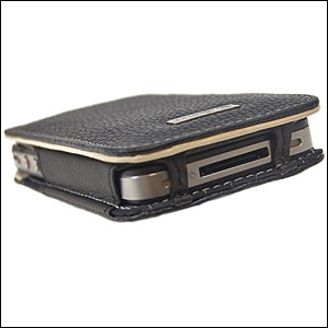 Funda cuero Alu iPhone 4 - Black