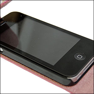 iPhone 4 Leather Flip Case - Pink